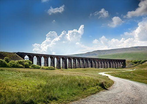 Ribblehead viaduct UK, Black colour - From £17.50 | Metal Plate Pictures
