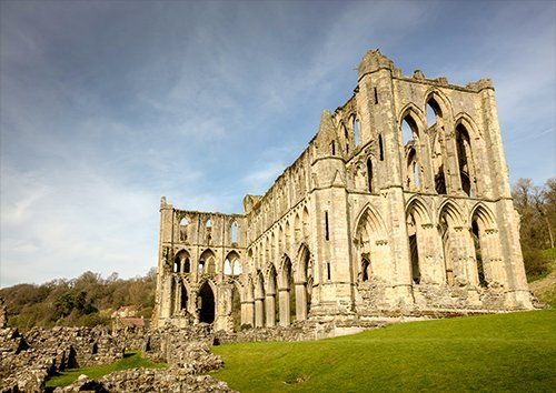 Rievaulx abbey uk, Black colour - From £17.50 | Metal Plate Pictures