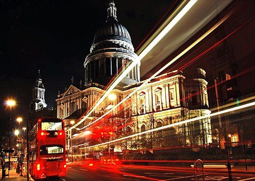 Saint paul cathedral London, Black colour - From £20.50   Metal Plate Pictures