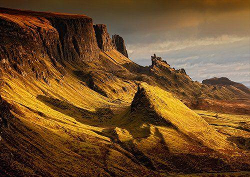 Scottish landscape hills uk, Black colour - From £17.50   Metal Plate Pictures