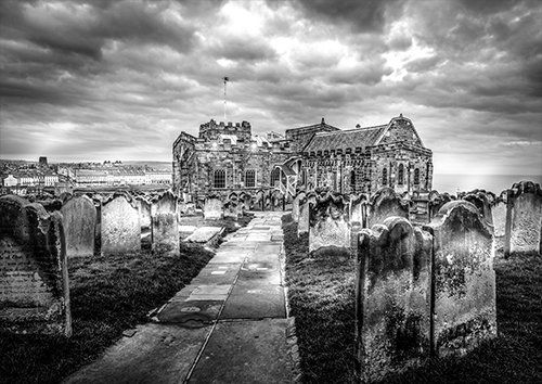 St Mary's Church Whitby Yorkshire UK, Black colour - From £17.50 | Metal Plate Pictures