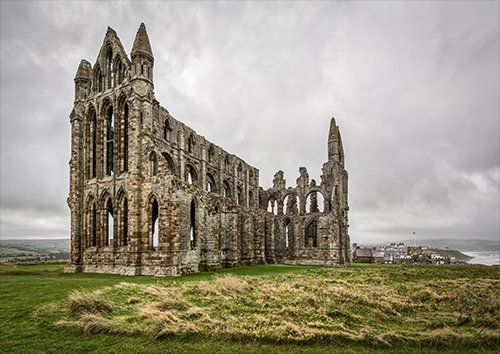 Whitby abbey In Colour, Black colour - From £17.50 | Metal Plate Pictures