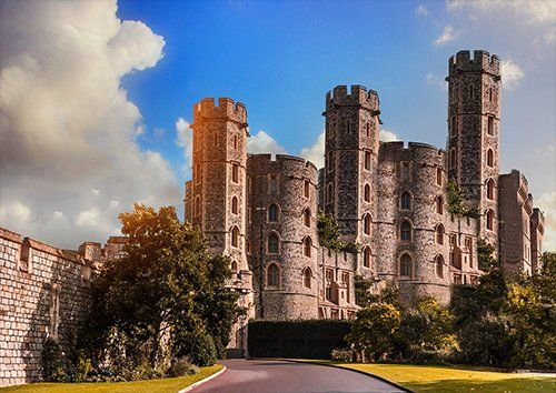 Noble castle uk, Black colour - From £17.50 | Metal Plate Pictures