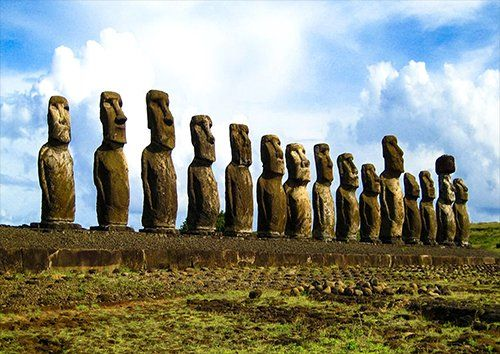 Easter Island, Black colour - From £17.50 | Metal Plate Pictures