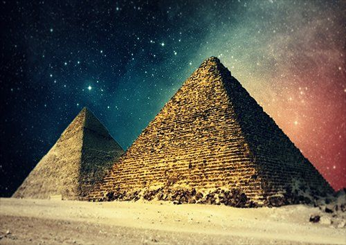 Egypt Pyramides at night, Black colour - From £17.50 | Metal Plate Pictures