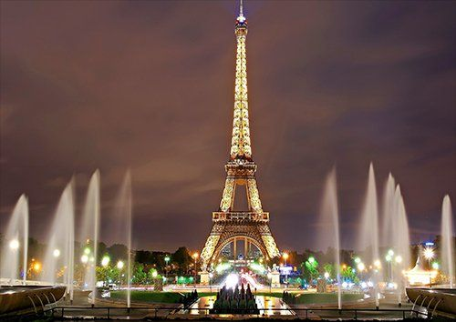 Eiffel tower paris, Black colour - From £17.50   Metal Plate Pictures