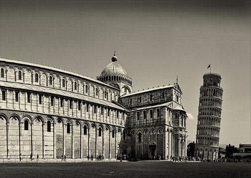 Pisa italy cities, Black colour - From £17.50 | Metal Plate Pictures