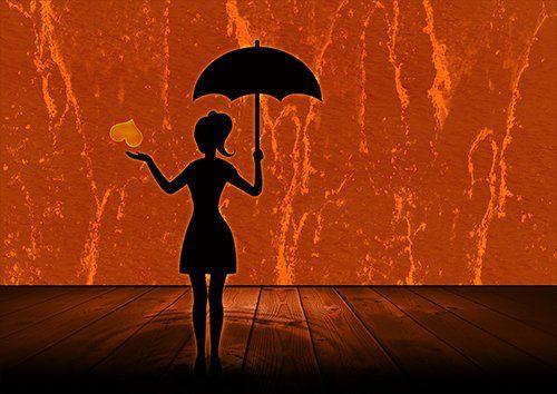 Romantic lady love silhouette landscape, Black colour - From £20.50 | Metal Plate Pictures
