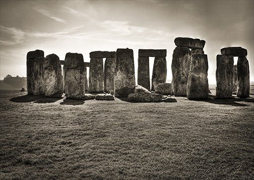 Stonehenge black and white, Black colour - From £17.50 | Metal Plate Pictures