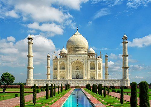 Taj Mahal, Black colour - From £17.50 | Metal Plate Pictures