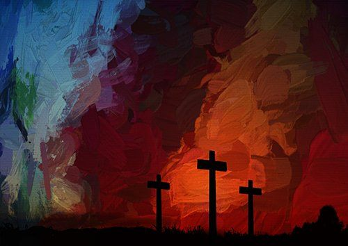 Artistic Cross Religion digital painting, Black colour - From £17.50 | Metal Plate Pictures