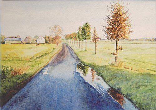 Country road wat, Black colour - From £20.50 | Metal Plate Pictures