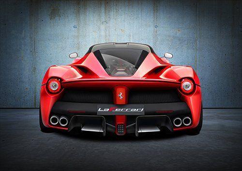 Ferrari Car Laferrari Rear, Black colour - From £17.50 | Metal Plate Pictures