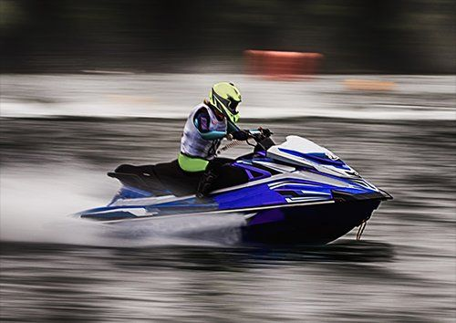 Jet ski blue, Black colour - From £17.50 | Metal Plate Pictures