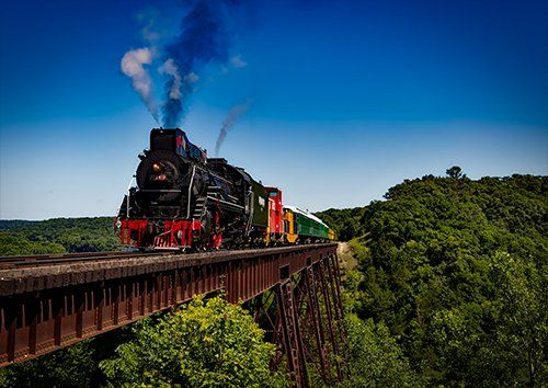 Train over the iron bridge trains, Black colour - From £17.50 | Metal Plate Pictures