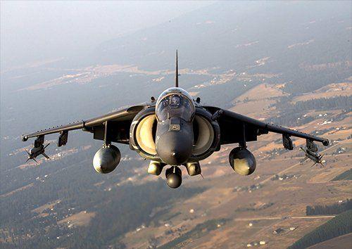 av 8b Harrier ii aero, Black colour - From £17.50   Metal Plate Pictures