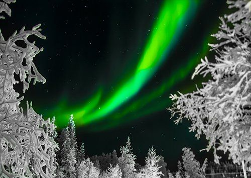 Beautiful aurora borealis, Black colour - From £20.50 | Metal Plate Pictures