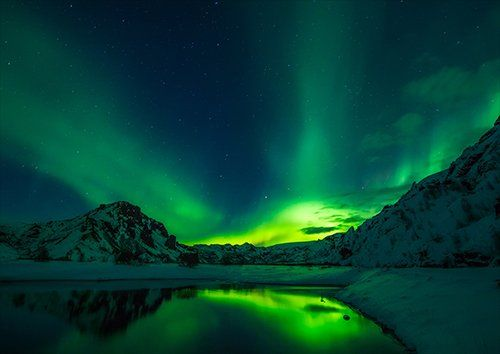 Aurora Borealis iceland, Black colour - From £17.50   Metal Plate Pictures