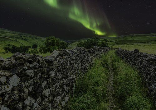 Aurora borealis evening, Black colour - From £17.50 | Metal Plate Pictures