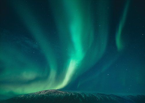 Aurora borealis bright colors, Black colour - From £17.50 | Metal Plate Pictures