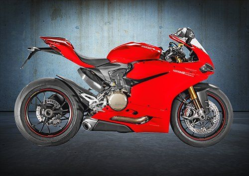 Bike Ducati 1299 Panigale Motorcycle, Black colour - From £17.50 | Metal Plate Pictures