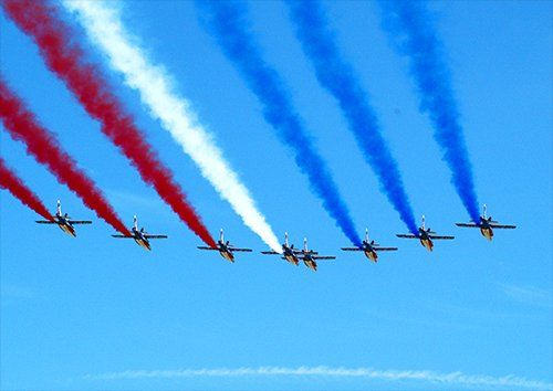 Red arrows flight formation 3 aero, Black colour - From £17.50 | Metal Plate Pictures