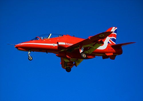 Red arrows landing aero, Black colour - From £17.50 | Metal Plate Pictures
