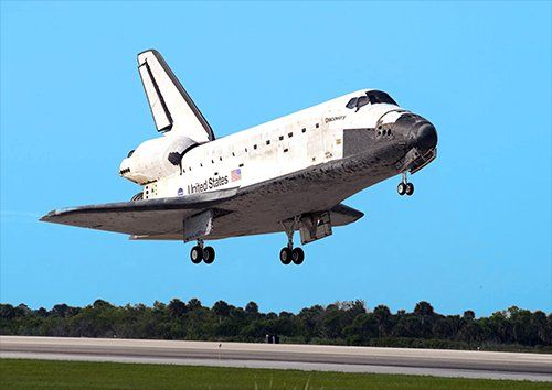 Space shuttle landing aero, Black colour - From £17.50 | Metal Plate Pictures