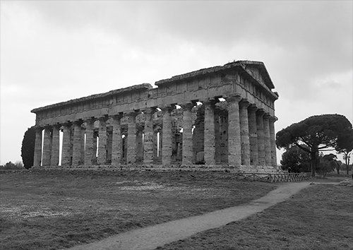 Ancient Roman architecture, Black colour - From £17.50 | Metal Plate Pictures