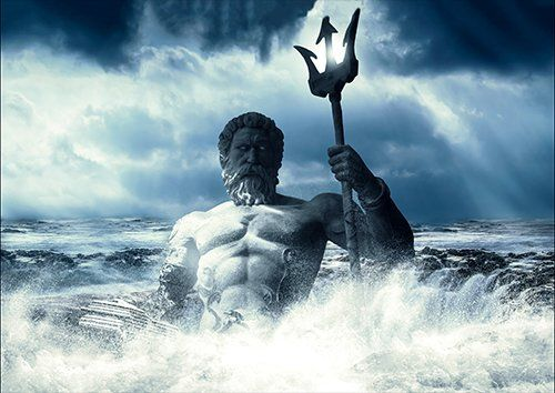 Art Imagination God Poseidon, Black colour - From £17.50 | Metal Plate Pictures