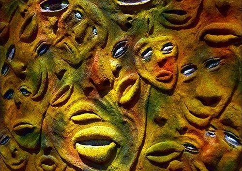 Art Statue Sculpture Face Culture, Black colour - From £20.50 | Metal Plate Pictures