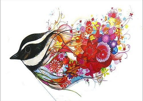 Bird Graphic art, Black colour - From £20.50 | Metal Plate Pictures