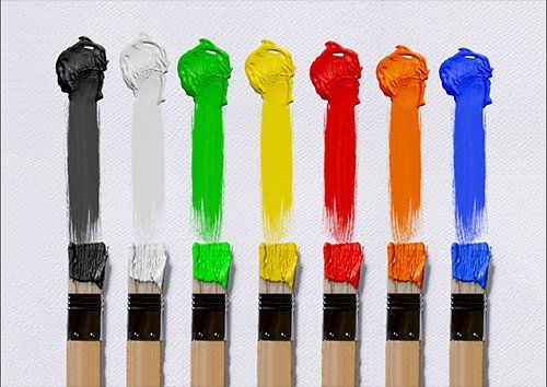 Brush Colours art, Black colour - From £17.50 | Metal Plate Pictures