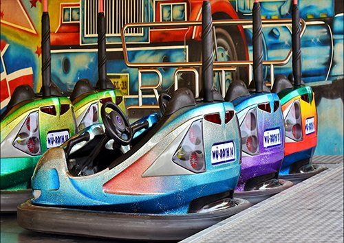 Bumper cars, Black colour - From £17.50 | Metal Plate Pictures