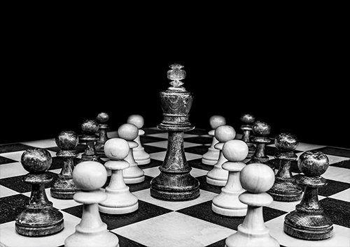 Chess board art, Black colour - From £17.50 | Metal Plate Pictures