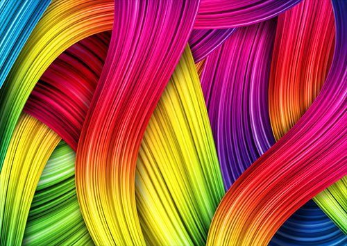 Colourful strands, Black colour - From £17.50 | Metal Plate Pictures