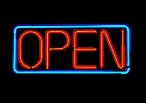 Open sign, Black colour - From £17.50   Metal Plate Pictures