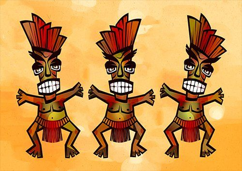 Polynesian tribe art, Black colour - From £17.50 | Metal Plate Pictures