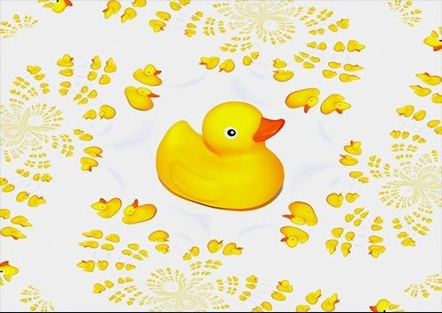 Rubber Ducks, Black colour - From £17.50 | Metal Plate Pictures