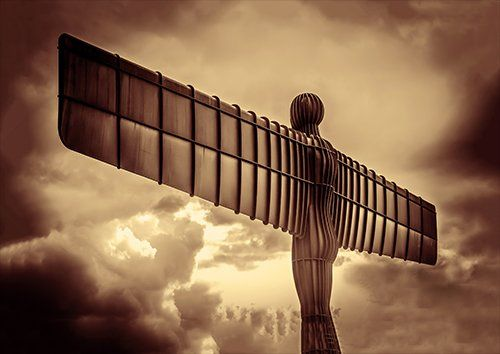 Angel of the north, Black colour - From £17.50 | Metal Plate Pictures