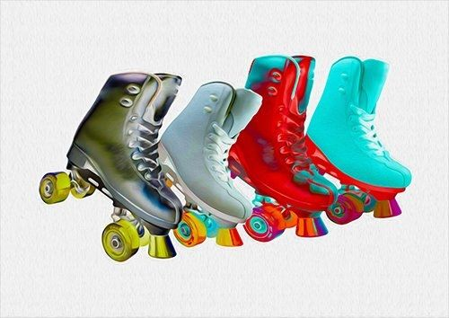 Skates, Black colour - From £17.50 | Metal Plate Pictures