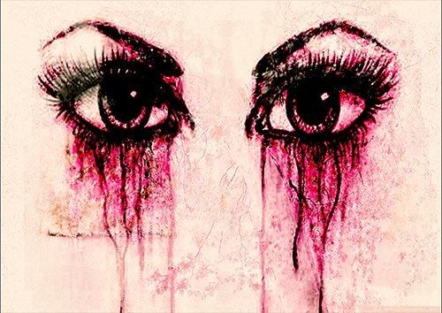 Crying eyes, Black colour - From £17.50 | Metal Plate Pictures