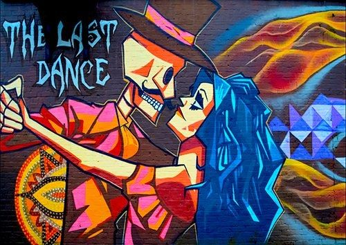 Last Dance romance street art, Black colour - From £17.50 | Metal Plate Pictures