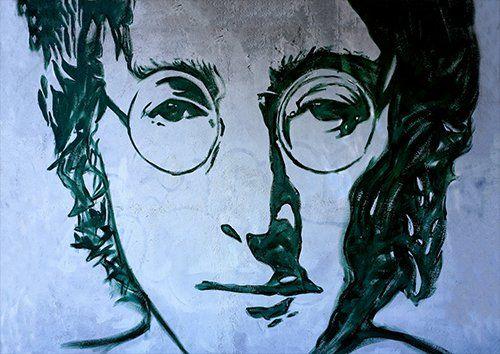 John Lennon Street -Art, Black colour - From £17.50 | Metal Plate Pictures