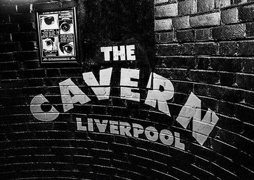 Liverpool The Beatles The Cavern street art, Black colour - From £17.50 | Metal Plate Pictures