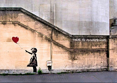 Banksy girl letting go of heart, Black colour - From £17.50 | Metal Plate Pictures