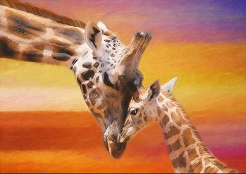 Giraffe Animal art, Black colour - From £17.50 | Metal Plate Pictures