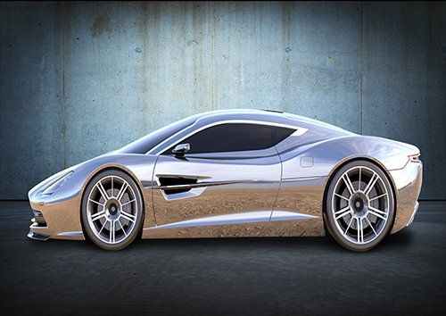 Car Aston Martin Concept Silver, Black colour - From £17.50 | Metal Plate Pictures