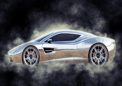 Car Aston Martin Concept Silver Smoke, Black colour - From £17.50 | Metal Plate Pictures
