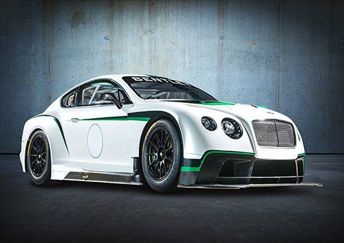Car Bentley Continental GT3-R Racing White, Black colour - From £17.50 | Metal Plate Pictures